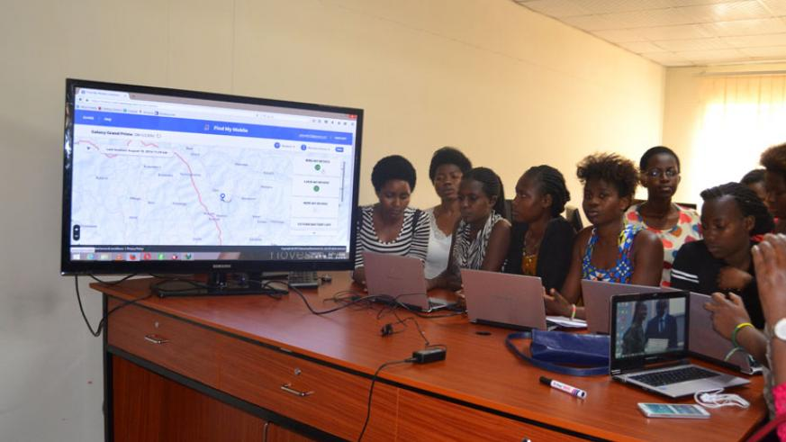 Some of the girls undergo training in ICT skills. / Courtesy photo.