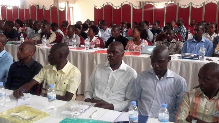Students from the School of Medicine and Pharmacy, College of Medicine and Health Sciences, University of Rwanda also attended the meeting. / Frederic Byumvuhore.