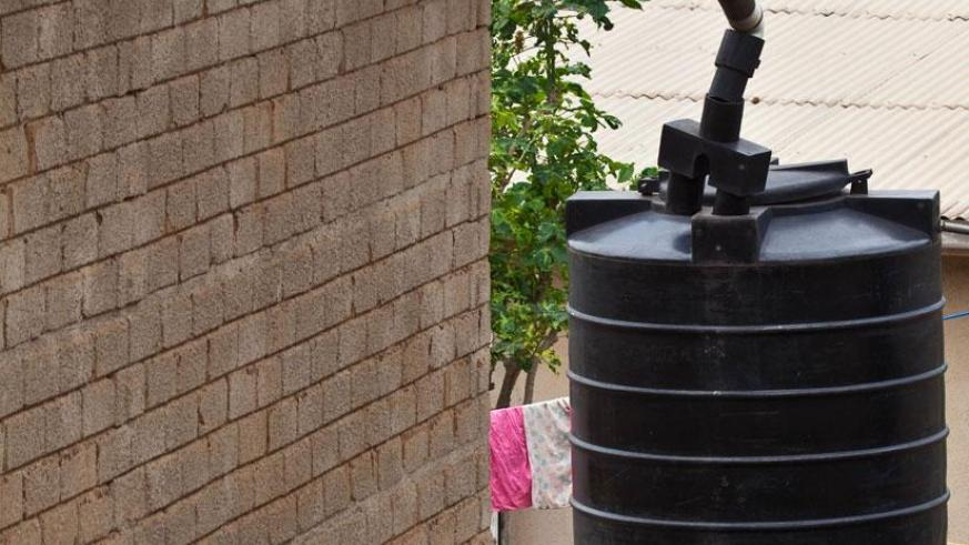 Rainwater being harvested into a tank. / File.