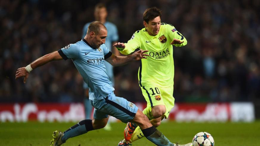 Manchester City were drawn against Barcelona on Thursday in one of the toughest of the eight groups. / Net photo