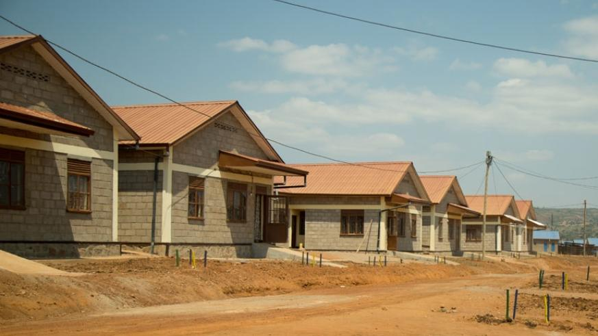 Some of the 'model village' houses constructed by the Government in Rweru Sector in Bugesera District. / Timothy Kisambira.