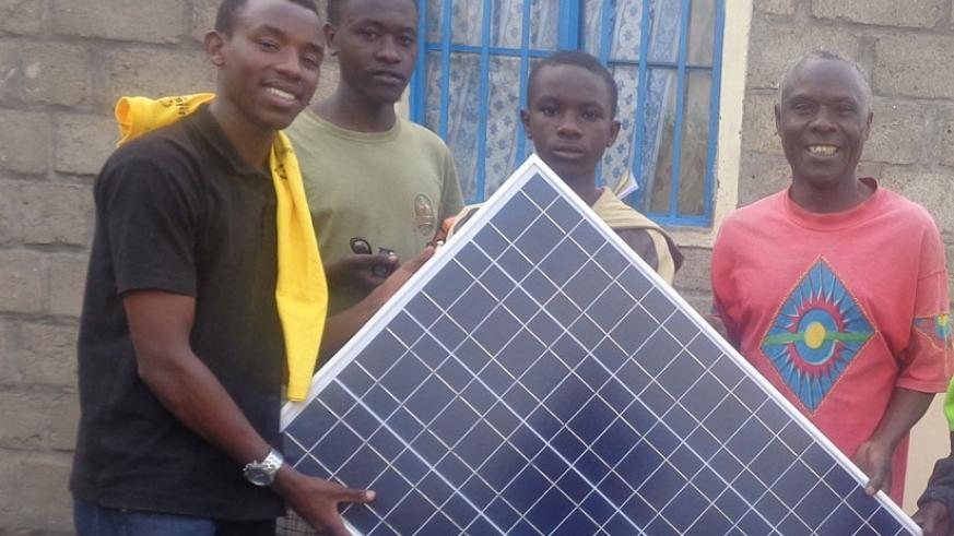 Some of the solar sytems Mobisol is using to power home stead