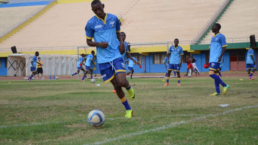 Jean Baptiste Mugiraneza arrived from Tanzania on Monday to beef up the team. / Sam Ngendahimana.