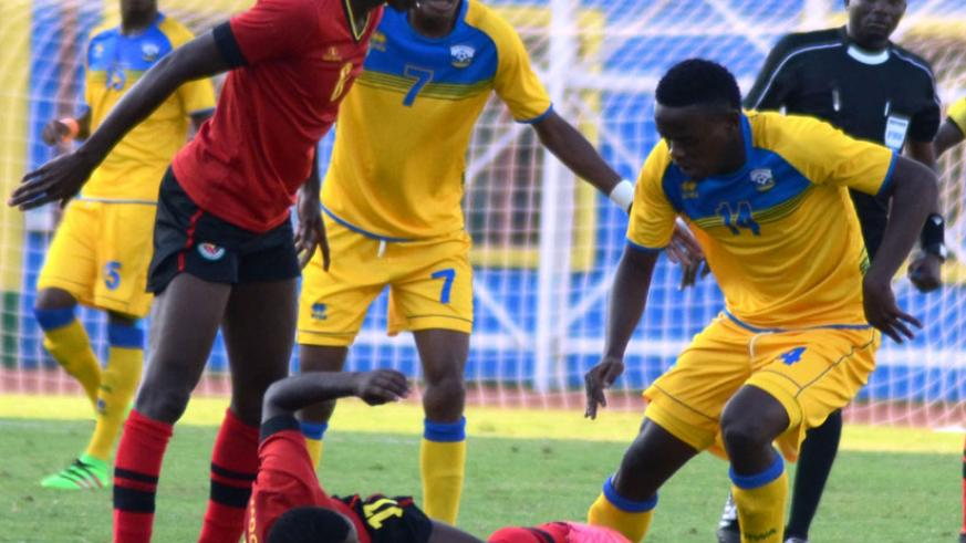 Midfielder Muhadjir (R), in action against Mozambique at Amahoro Stadium in June, has been tipped to take over the set-piece role for Amavubi. / Sam Ngendahimana.