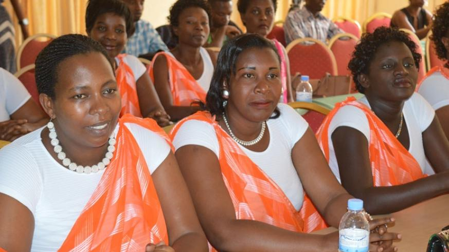 National women coordinators from different districts during the meeting. (John Mbaranga)