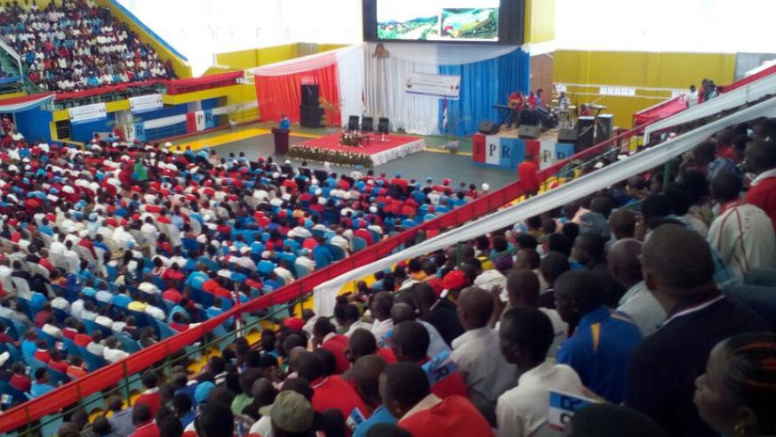 Members of the RPF in Gasabo District during their General Assembly on Saturday (Courtesy)