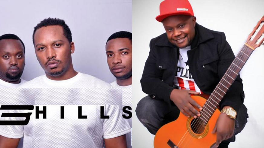3 Hills consists of (L-R), Eric Mucyo, Jackson Kalimba and Hope Irakoze. | Kidum, 42, is a Kenya-based Burundian musician, who collaborated with local music group 3 Hills. / Net photo.