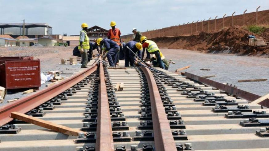 Railway construction in Kenya. The EAC partner states are undertaking a number of joint initiatives, including cross-border infrastructure projects. (Net photo)