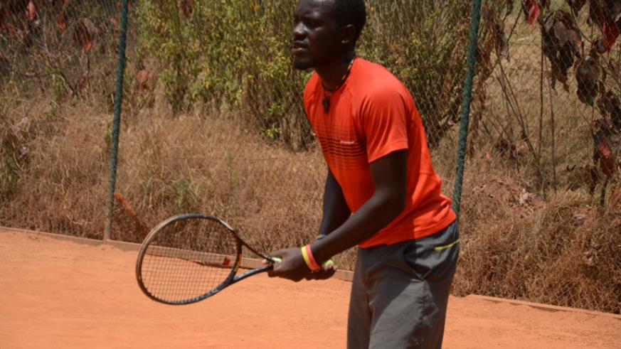 Havugimana, 19, is popular among his teammates and in the local tennis fraternity because of flamboyant playing style. / Sam Ngendahimana.
