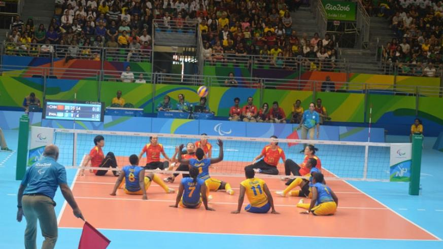 Rwanda women national sitting volleyball team lost to China 3-0 in their opening match in Group A on Saturday in Rio. / Courtesy.