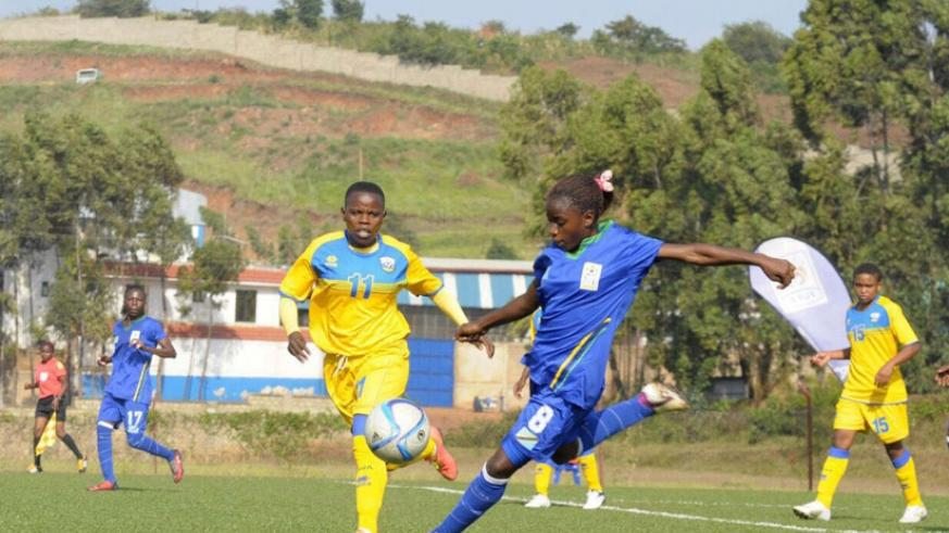 Rwanda women football team suffered a humbling start to the 2016 CECAFA Women Championship following a 2-3 loss to Tanzania in the opening game of Group B on Monday. / Courtesy