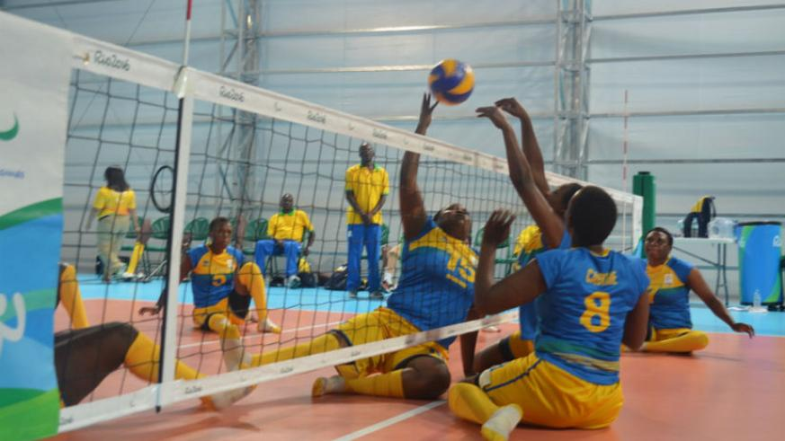 Rwanda national women sitting volleyball team will today face Canada in the 7th and 8th place classification match at the 2016 Rio Paralympic Games. / Courtesy