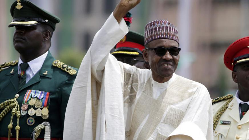 President Muhammadu Buhari salutes his supporters in 2015. In response to the plagiarism, Nigerian columnist Adeola Akinremi denounced 'the moral problem of plagiarism on a day Mr ....