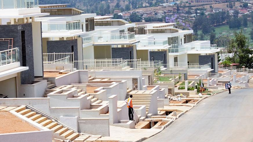 Vision City residential houses under construction. / Faustin Niyigena.