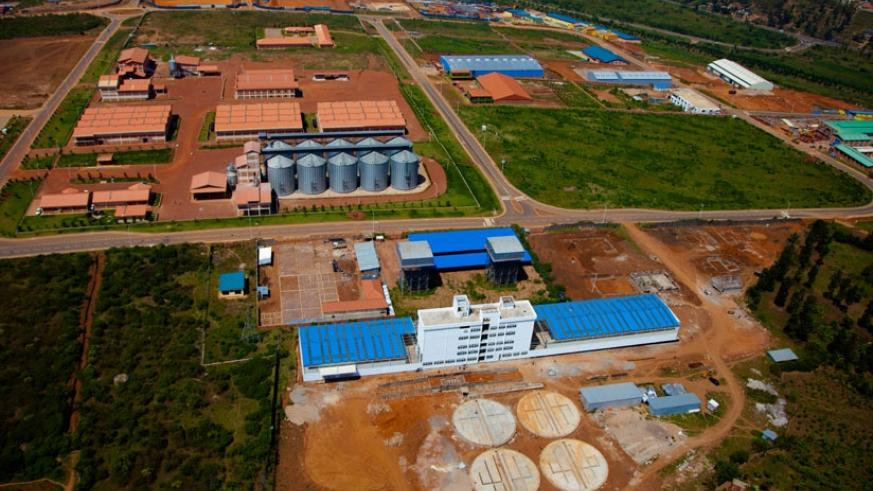An aerial view of the Kigali Special Economic Zone in Gasabo district. (File)