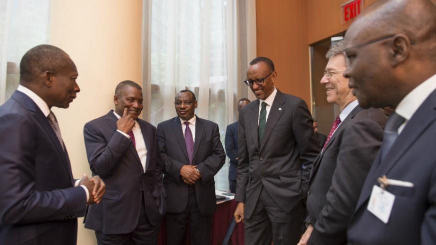 President Kagame with President Patrice Talon of Benin (left); Jeffery Sachs, an American economist and director of The Earth Institute at Columbia University (2nd right); Rwanda's....