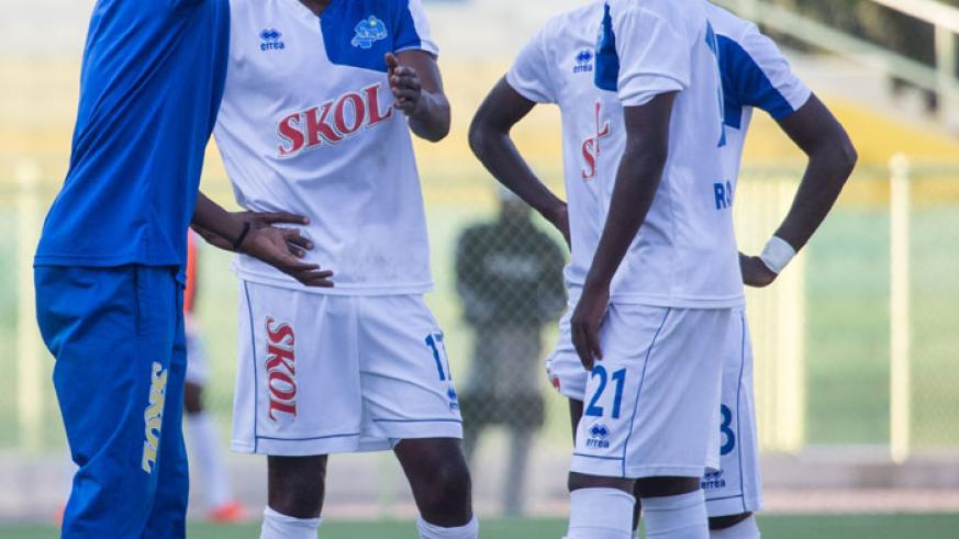 Rayon Sports head coach Djuma Masudi gives instructions to his players during a past match. He has set his sights on big things in the new season, both domestically and on the cont....