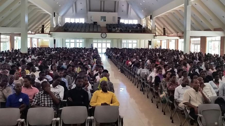 A cross section of students at Adventist University of Central Africa. (Appolonia Uwanziga)