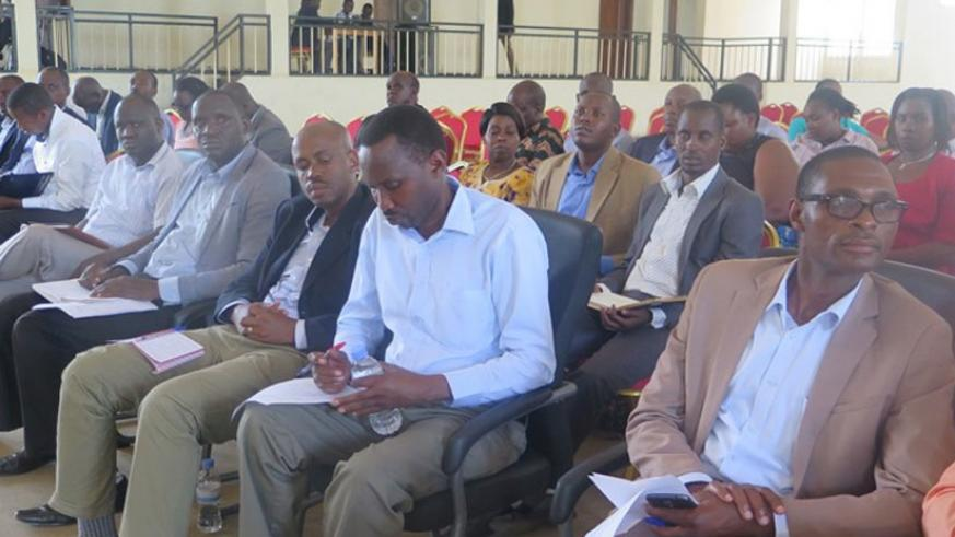 Eastern Province local leaders and development partners follow proceedings during the meeting in Nyagatare District. (Frederic Byumvuhore)