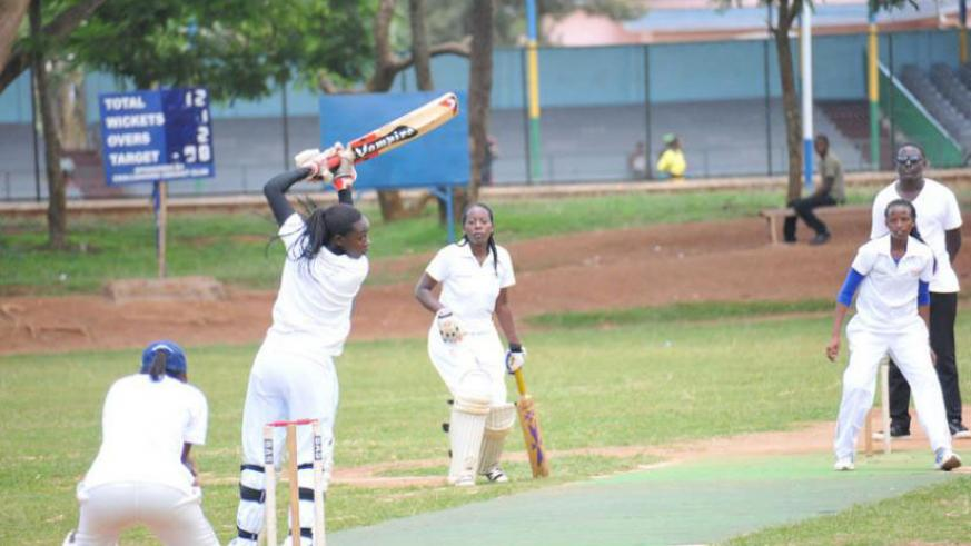 White Clouds captain Verionic Iriho batting during a past game against Charity CC. White Clouds take on Queens of Victory in the final of the Computer Point T20 tourney today. / File