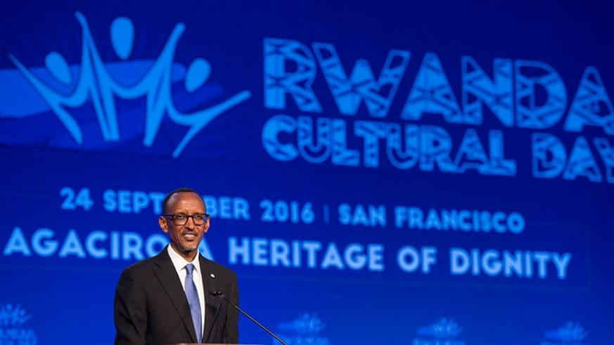 President Kagame addresses Rwandans and friends of Rwanda at the Rwanda Cultural Day in San Francisco, US, on Saturday, where he called for the Rwandan cultural values to be placed....