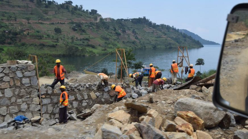 Workers on a road construction project in Musanze. The Rwanda Public Procurement Authority has said that all public procurement processes will be conducted through an online system....