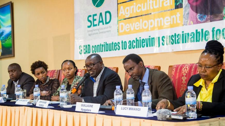 Panelists during the launch of the SEAD initiative in Kigali, last week. (Faustin Niyigena.)