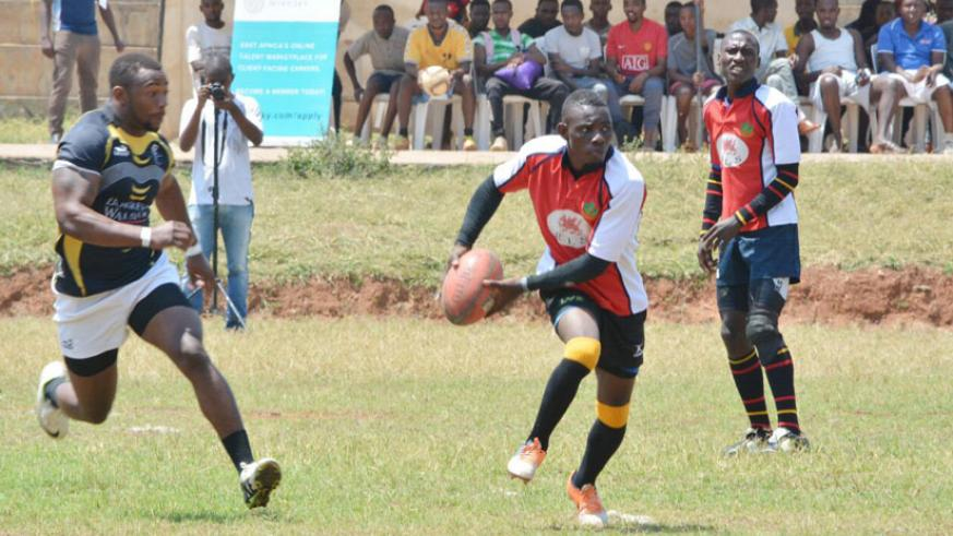 Debutants Resilience (red) will be aiming to make history when they take on Thousand Hills in the rugby league final. (S. Kalimba)
