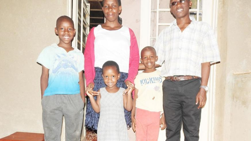 Both Nyankiko and his wife Mukanziza have vision impairment ( By Elias Hakizimana)