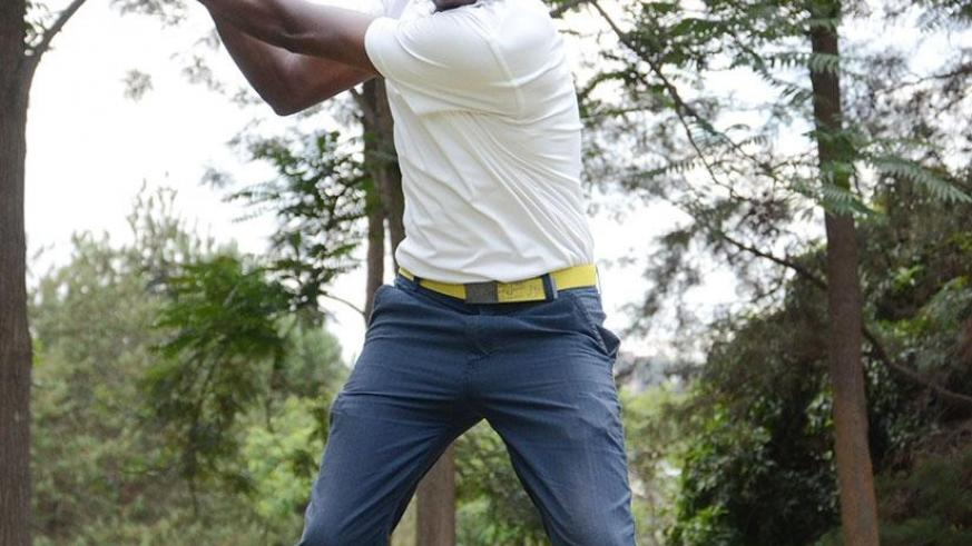 Emmanuel Habineza will compete on the national team, which is preparing for the forthcoming East African Golf Challenge in Ethiopia. / Sam Ngendahimana.