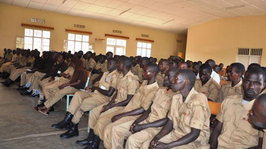 Members of Irondo in Kinyinya during a review meeting. (Courtesy.)