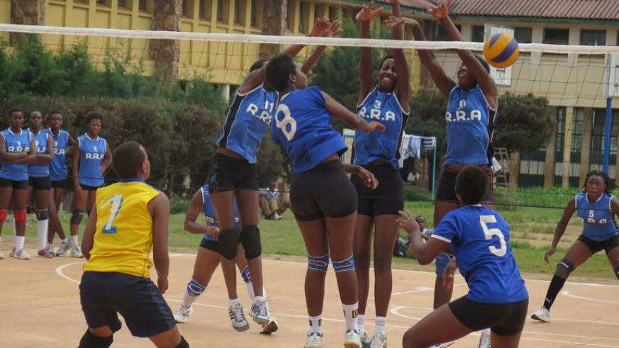 RRA vs Ruhango during the Kayumba Memorial tournament which they won. / File