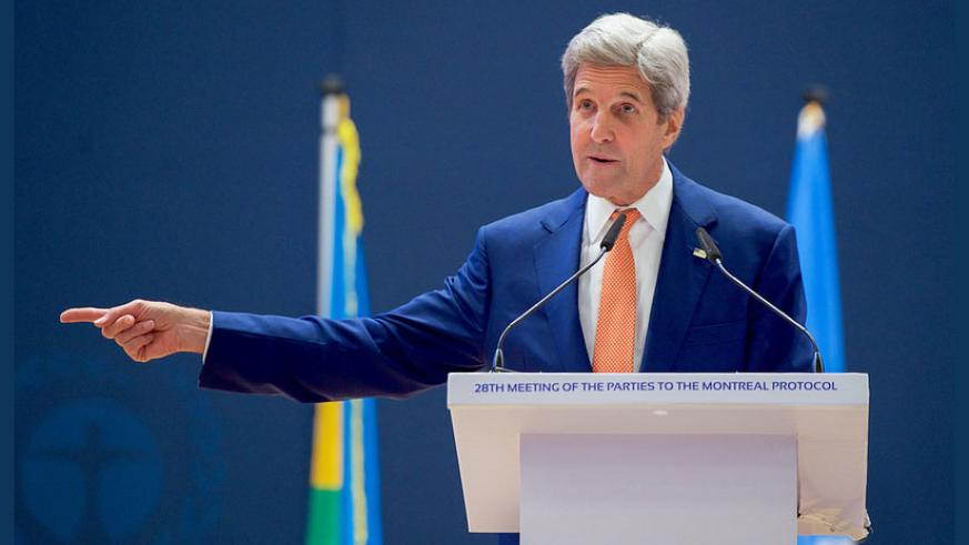 US Secretary of State Kerry says adopting Montreal Protocol amendment will signal a momentous step to limit global warming. / Internet photo