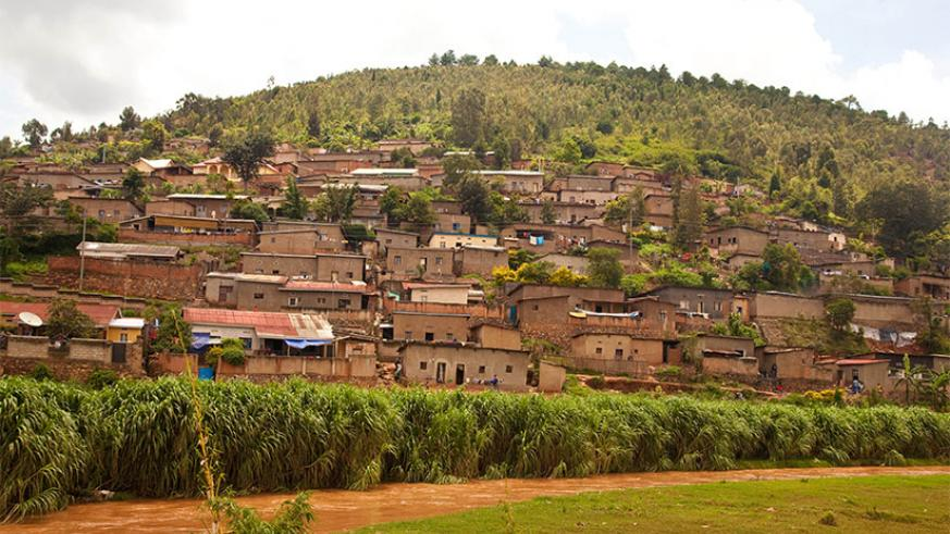 Some of the houses built in High risk zones in Nyabugogo.  (File)