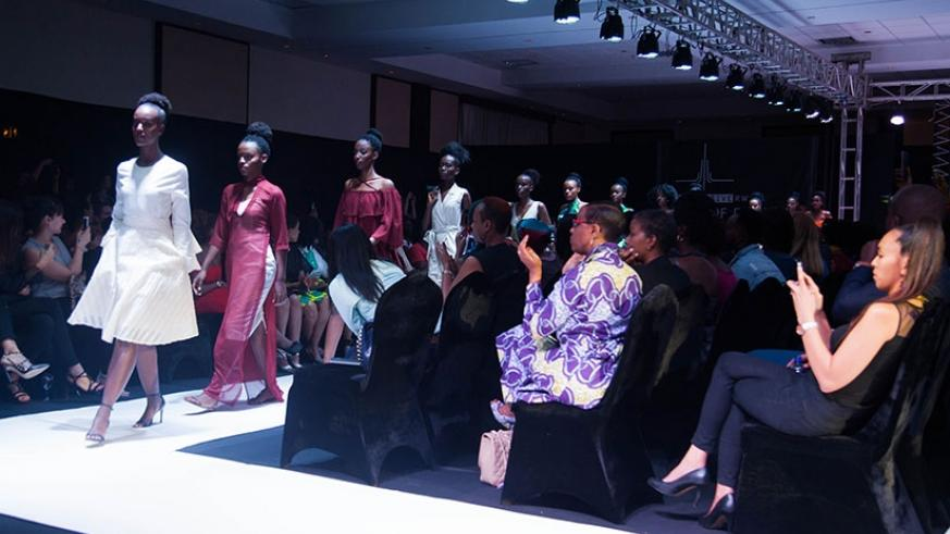 Models showcase Sonia Mugabo's designs during week of fashion in Kigali on Friday. All photos by Nadege Imbabazi