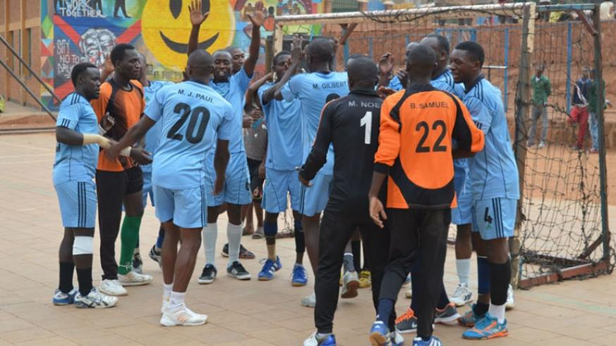 Fresh from claiming this year's title for the third consecutive time, Police again defeated their closest rivals APR 41-36 in the final on Saturday. / File.
