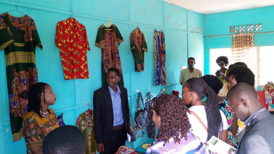 FAWE alumni tour different activities carried out at the centre during their visit. / Julius Bizimungu.