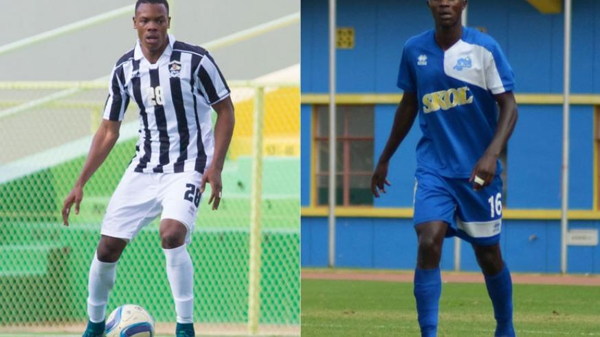 Rwatubyaye (L) signed for Rayon Sports from APR,  while Imanishimwe (R) signed for the army side 24 hours after extending his contract with Rayon. (File)