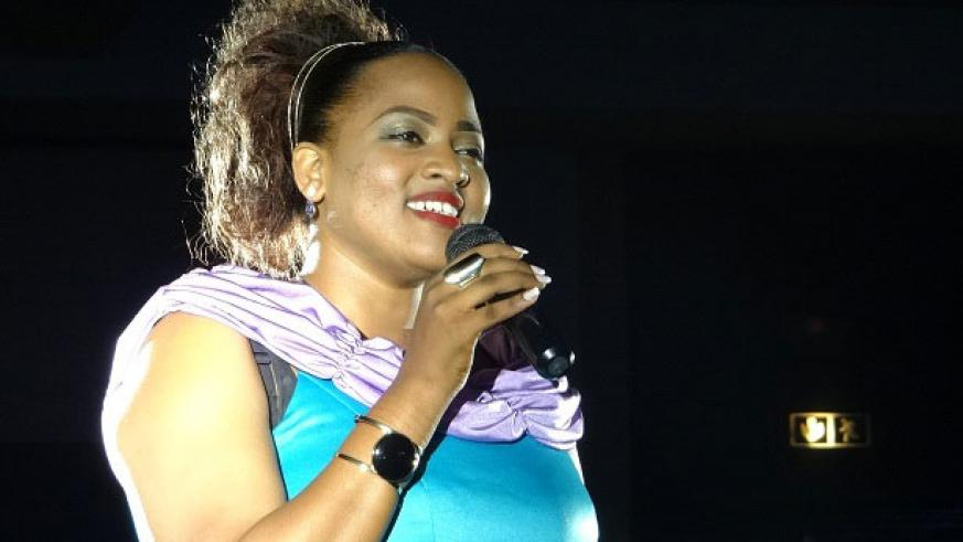 The 'Himbaza Gospel Festival' seeks to uplift gospel artistes, such as Aline Gahongayire, pictured here at a previous show in Kigali. / File