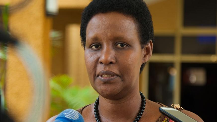 Former Minister of Gender and Family Promotion, Odda Gasinzigwa was elected to replace Christopher Bazivamo at the regional legislative body. (Nadege Imbabazi)
