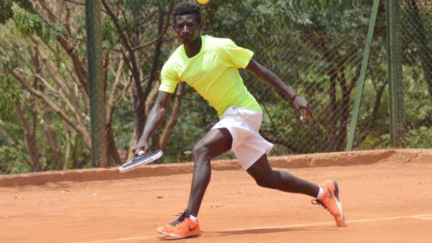 Ernest Habiyambere is one of the youngsters that will represent Rwanda at this year's ITF CAT 18 & under East African Junior Circuits. (Sam Ngendihimana.)