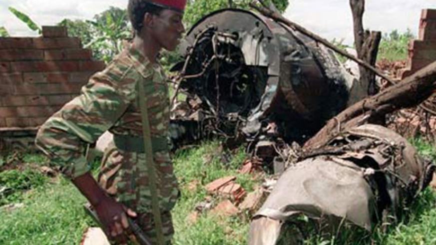 The wreckage of the Habyarimana plane that was shot down in 1994 as it approached Kigali International Airport. / File