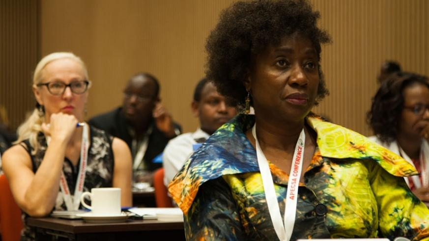 Participants follow proceedings during the 13th biannual meeting of the Association of Pathologists of East, Central and Southern Africa (APECSA) in Kigali, yesterday. (N. Imbabazi.)