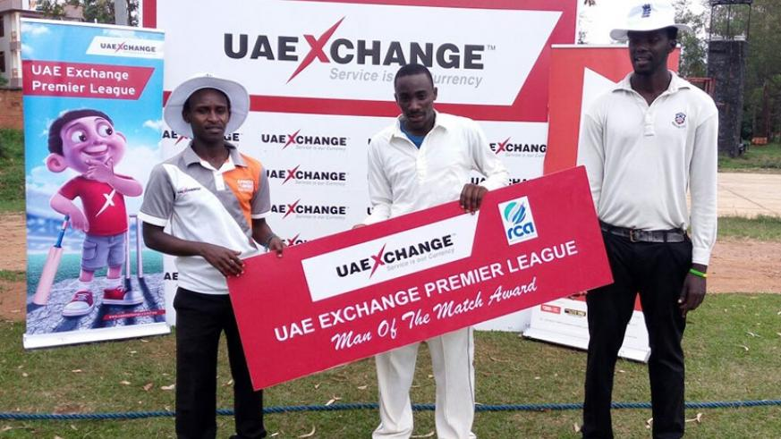 RCA-Development team star man David Uwimana was named man of the match after he scored 55 runs in 49 balls and took 2 catches.