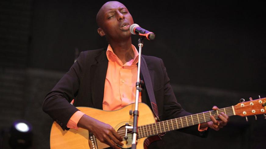Aime Uwimana performs during the concert. (Courtesy Photos)