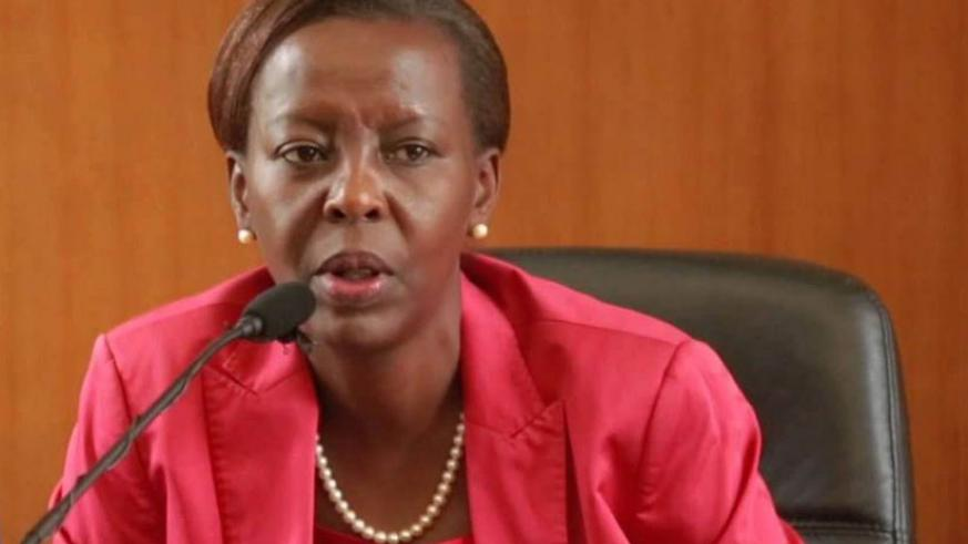 Mushikiwabo speaking at a past function. She's attending a major security conference in China. (File)