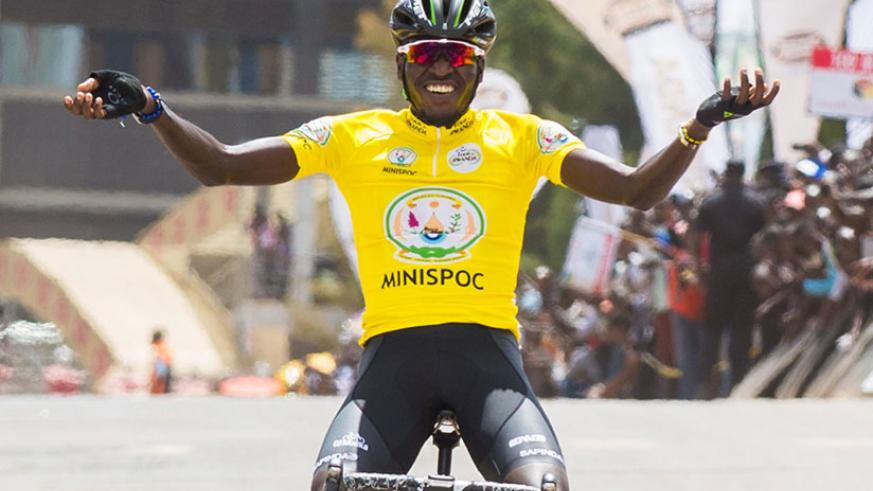 On top of winning the race, Ndayisenga also clinched the best young rider award, best African rider award and best Rwandan rider award. / Faustin Niyigena