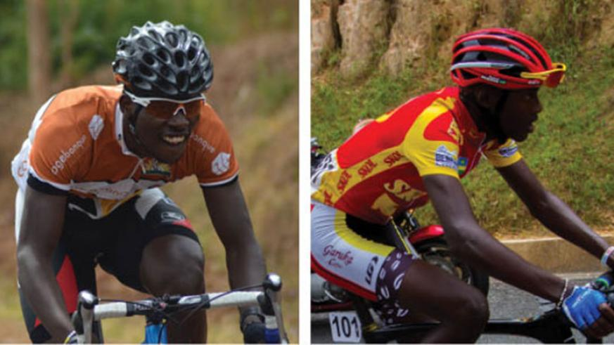 Areruya (L), 20, finished in fourth place in the 2016 Tour du Rwanda, while 18-year-old Mugisha won the best mountain climber award. (S. Ngendahimana)