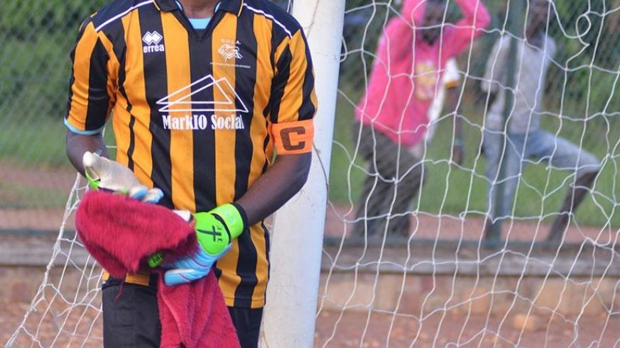 Mukura goalie Andre Mpazimpaka was at the centre of witchcraft controversy that marred his team's game against Rayon Sports last week. (S. Ngendahimana)