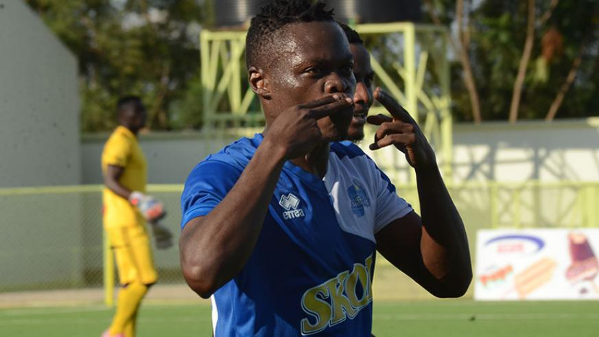 Last season's Player of the Year, Kwizera, has scored five goals and will be looking to add to his tally against Musanze this afternoon. / File photo